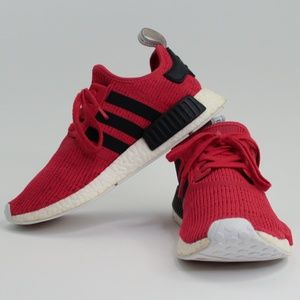 Adidas NMD R1 Core Red Pure Boost Primeknit Shoes